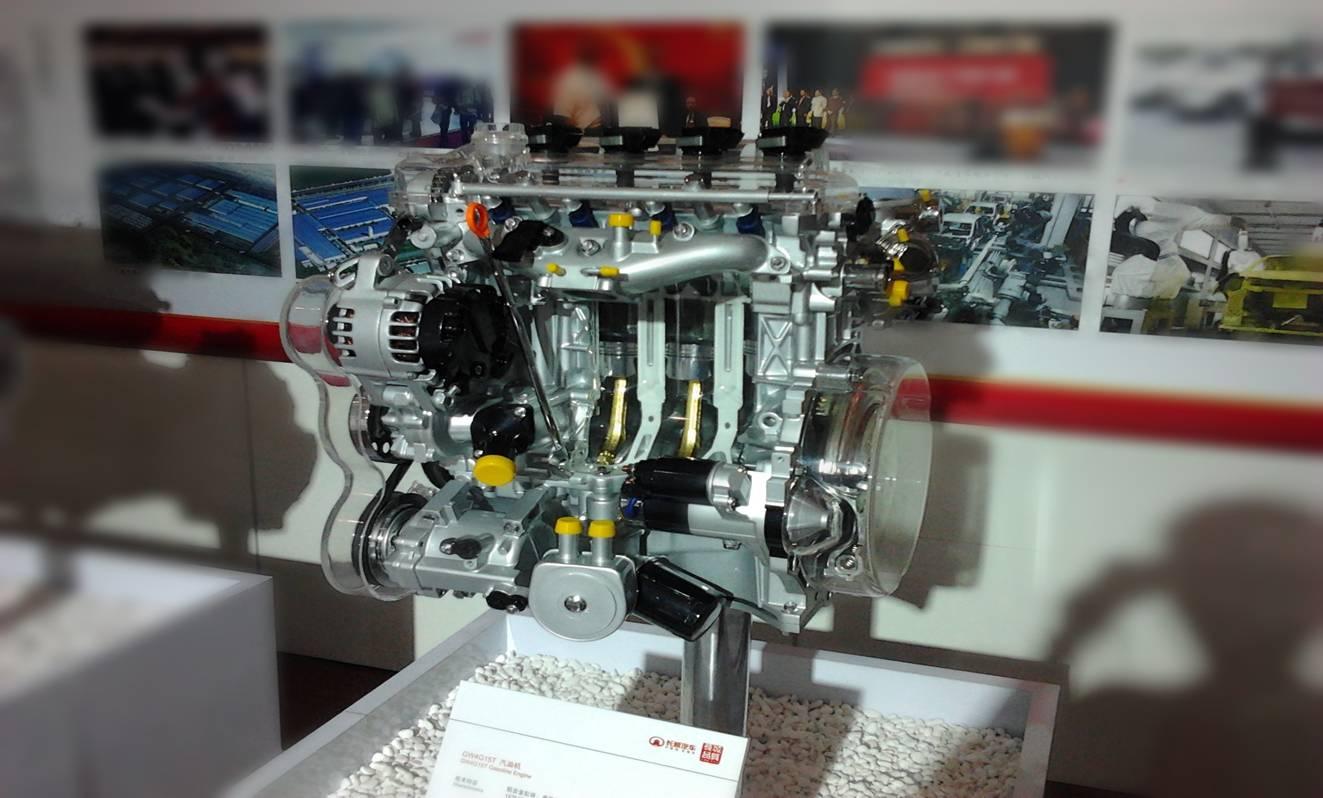 展示v6汽油发动机的工作原理和剖视结构