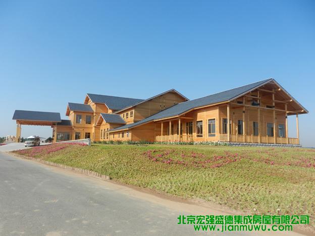 内蒙古鄂尔多斯木结构会所