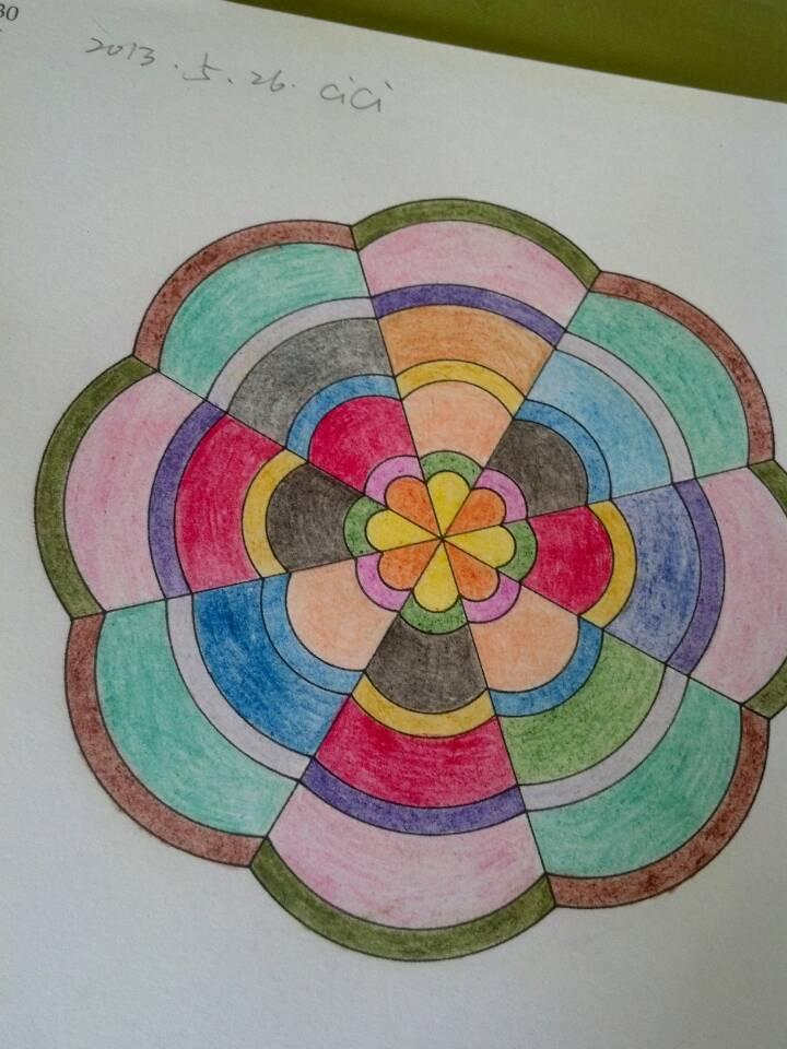 曼陀罗绘画是心理绘画技术的一种,图案源自古老的印度.